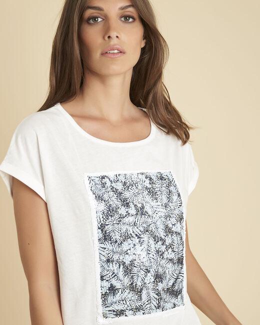 Tee-shirt blanc sequins réversibles Eleonore (1) - 1-2-3
