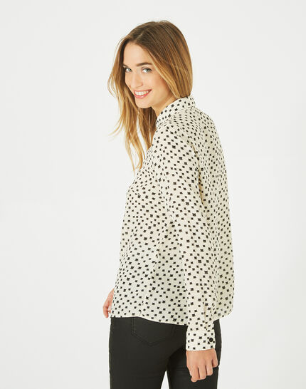Dolores panther print black and white blouse (3) - 1-2-3