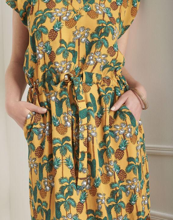 Robe jaune imprimé ananas Lulano (4) - Maison 123
