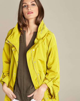 Faustine aniseed parka with removeable hood aniseed.