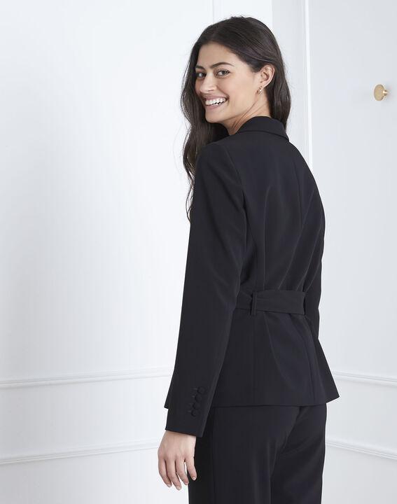 Veste noire détail doré ceinture Fanny (4) - Maison 123