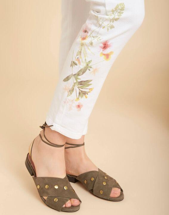 Vendôme 7/8 length printed white jeans PhotoZ | 1-2-3