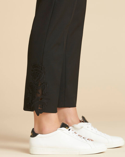 Valero tailored trousers with crease and lace detailing (1) - 1-2-3