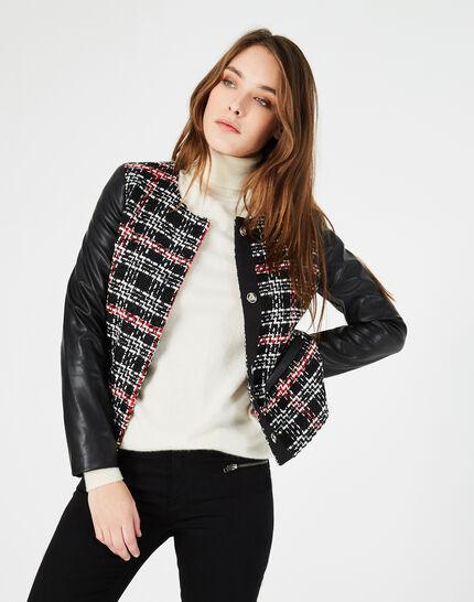 Danae black and white check jacket (3) - 1-2-3