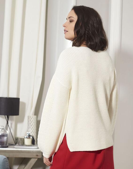 Blanche ecru oversize wool mix pullover (4) - 1-2-3