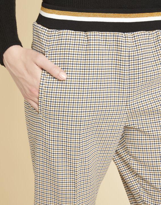 Pantalon à carreaux ceinture contrastante Halva (3) - 1-2-3