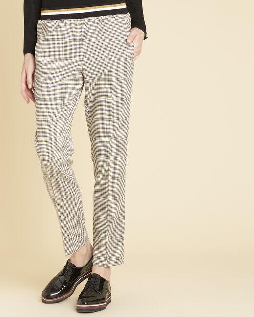 Pantalon à carreaux ceinture contrastante Halva (2) - 1-2-3