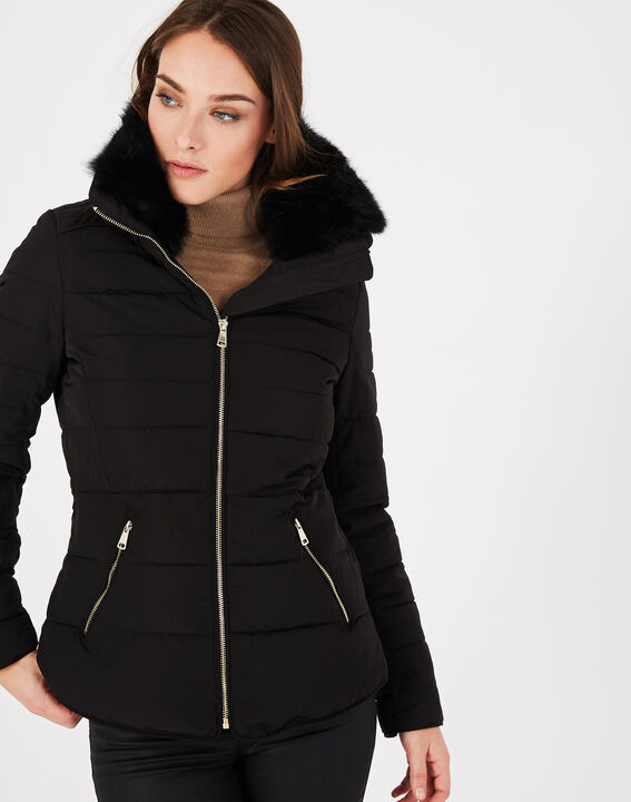 Laure short black puffer jacket (2) - 1-2-3