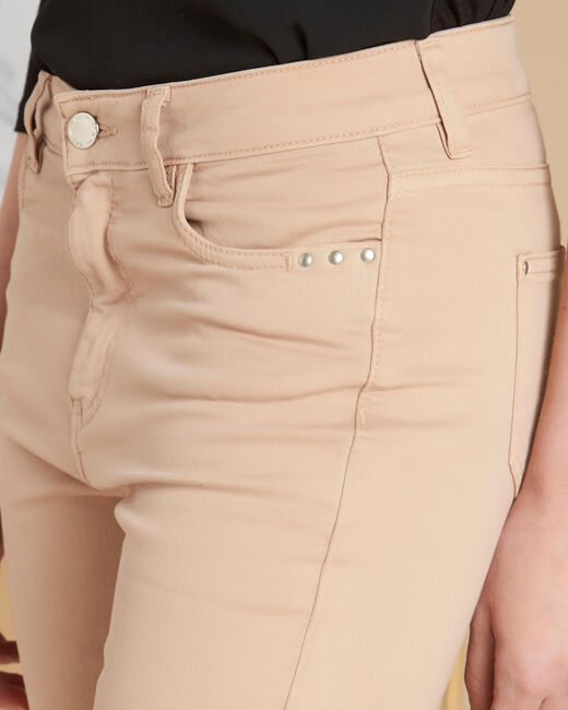 Vendôme 7/8 length beige slim-cut jeans (1) - 1-2-3
