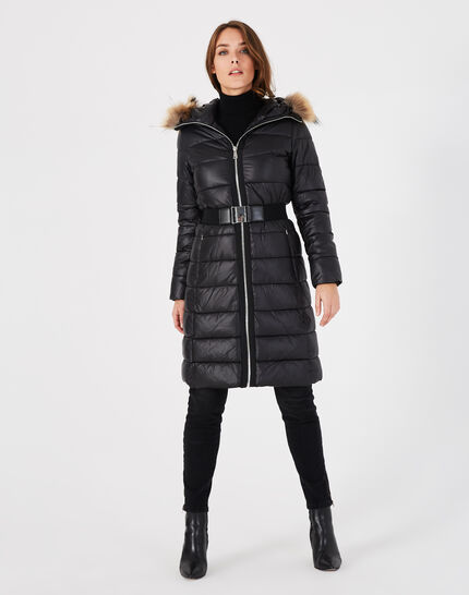 Louna long black puffer jacket (1) - 1-2-3