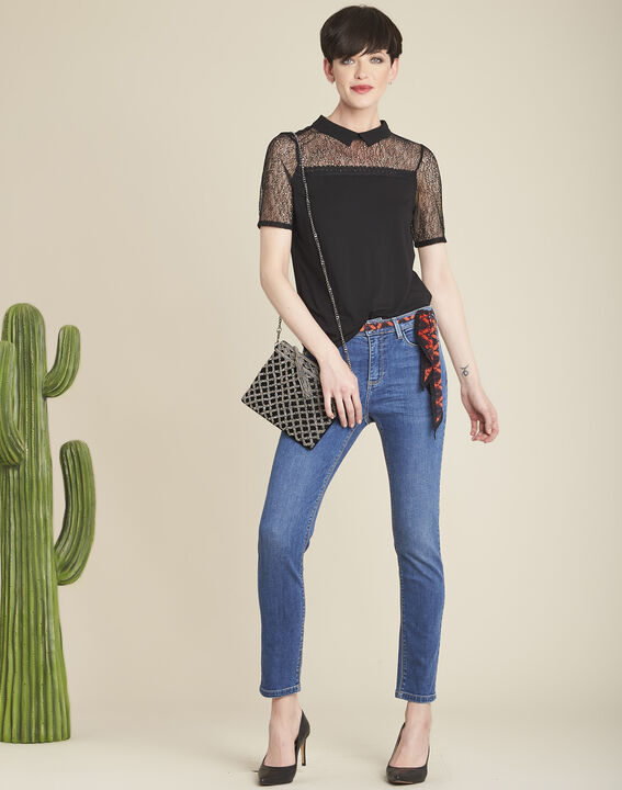 Irene embroidered black clutch bag (3) - 1-2-3