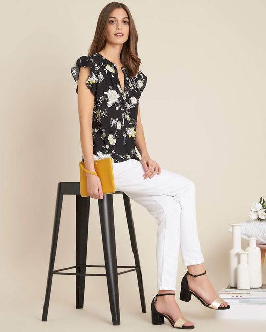 Galante black floral printed blouse (1) - 1-2-3