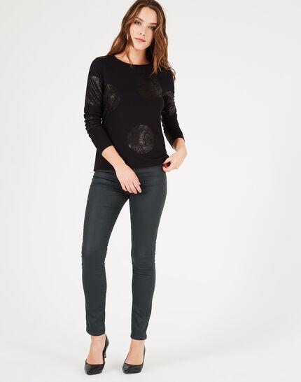 Tee-shirt noir à pois Bonnie (3) - 1-2-3