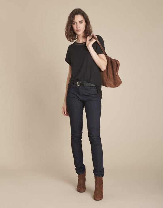 Tee-shirt noir en lin Panette PhotoZ | 1-2-3