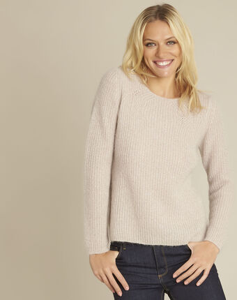 Bello pink mohair mix pullover powder.