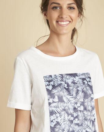Tee-shirt blanc imprimé elixir ecru.