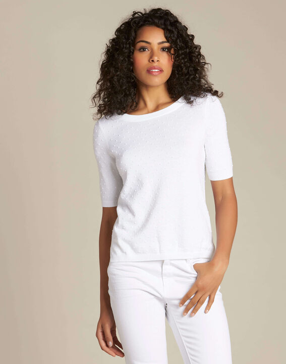 Nadia white sweater with bow on the back (3) - 1-2-3