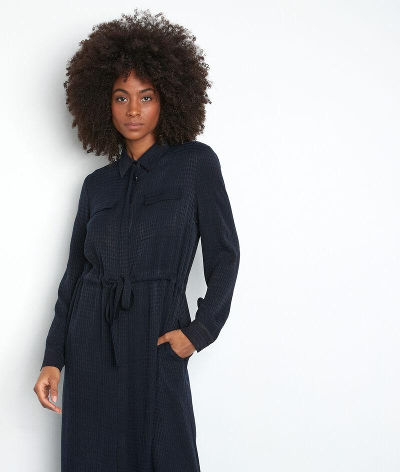 Robe mi-longue bleu marine Sylvie PhotoZ | 1-2-3