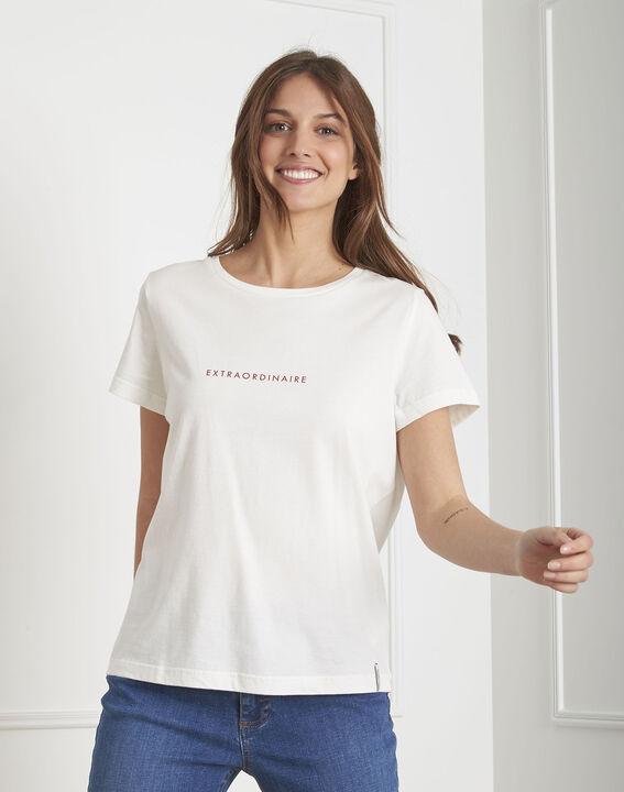 Tee-shirt écru coton biologique Pextra PhotoZ | 1-2-3