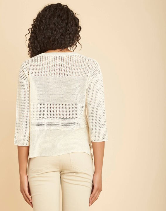Nirvana golden shiny sweater in an openwork knit (4) - 1-2-3