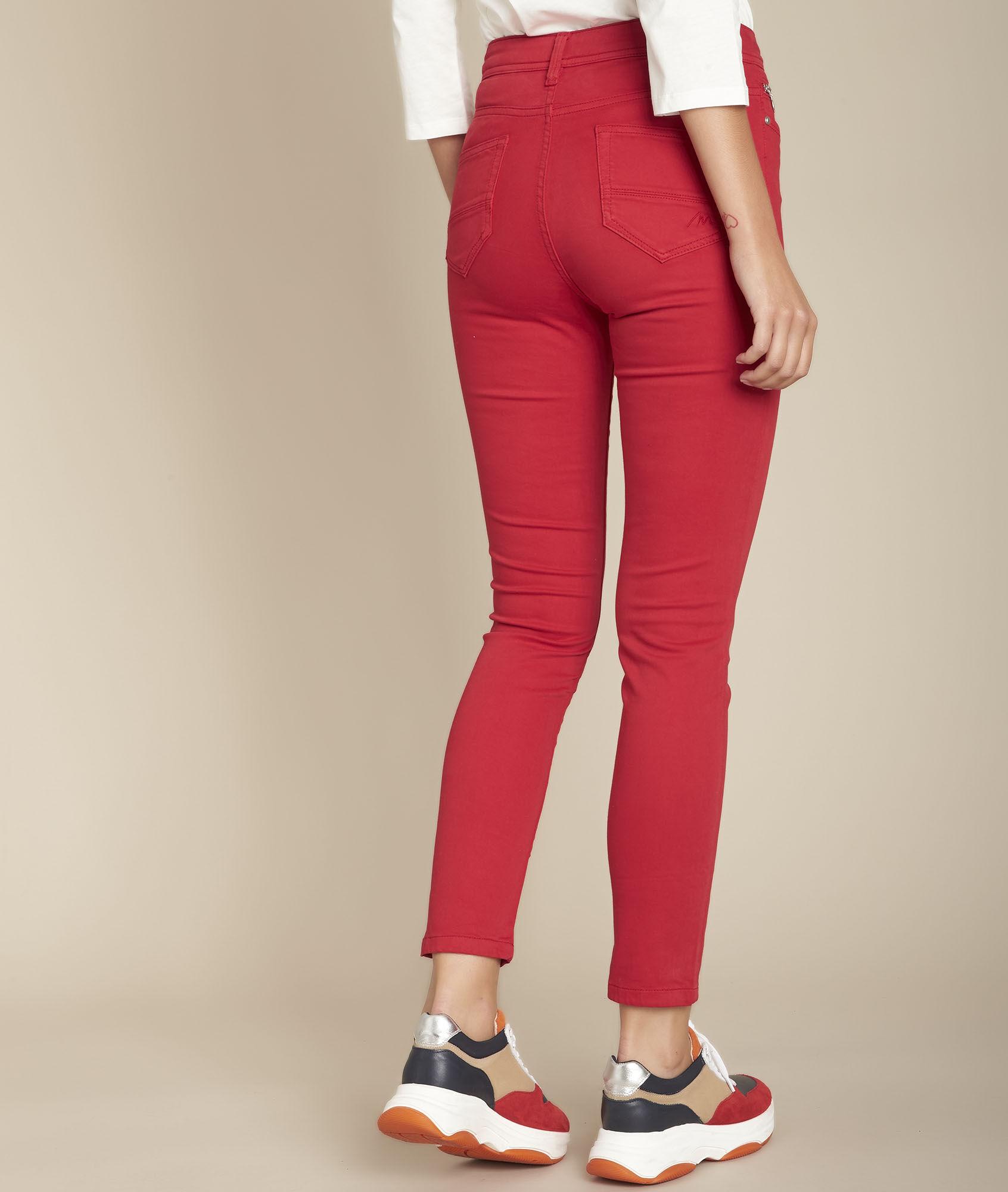 L'iconique : slim satin de coton rouge Sultan Femme | Maison 123