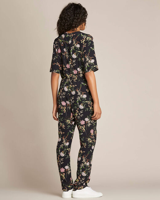 Pacha black playsuit with floral print (2) - 1-2-3