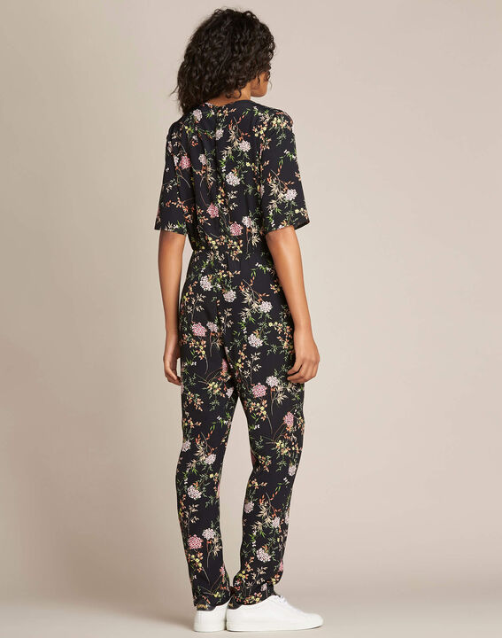 Pacha black playsuit with floral print (3) - 1-2-3