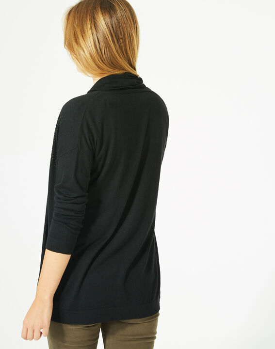 Pluton black cardigan/jacket with diamanté detailing (5) - 1-2-3