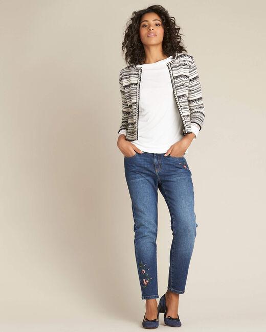 Nougat short jacquard pale pink jacket (1) - 1-2-3