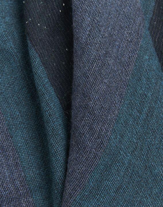 Smaragdgrüner Schal mit Pailletten Firmini (2) - 1-2-3