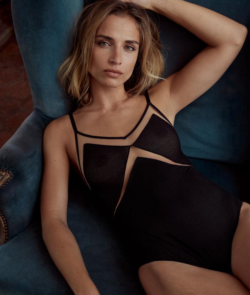 Body en tulle coton GOTS noir Rachel PhotoZ | 1-2-3