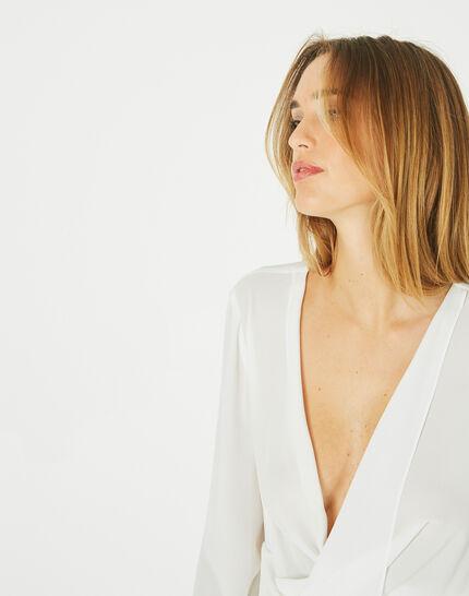 Danse draped, off-white blouse (3) - 1-2-3
