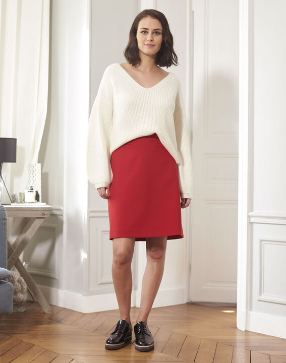 Jane red A-line skirt (1) - 1-2-3