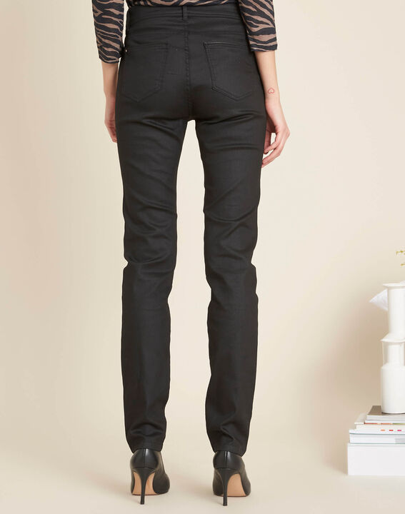 Valley 7/8 length black slim-cut coated jeans (4) - 1-2-3