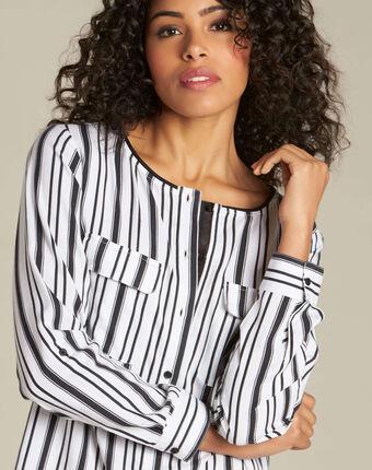 Dan striped blouse black/white.