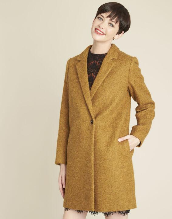 Safrangelber Mantel aus Kochwolle Erica PhotoZ | 1-2-3