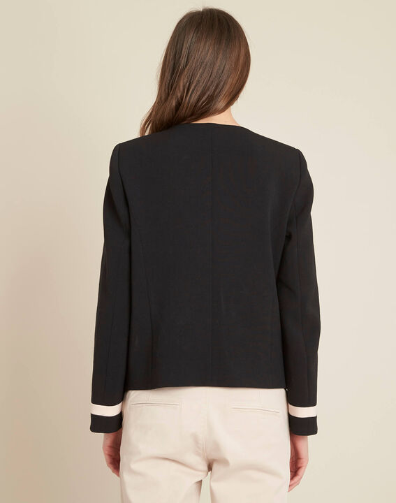 Cake two-tone cropped jacket (4) - 1-2-3