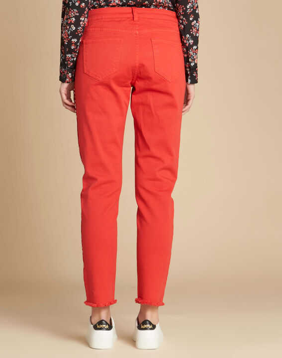 Vendôme red jeans with studded detailing (4) - 1-2-3