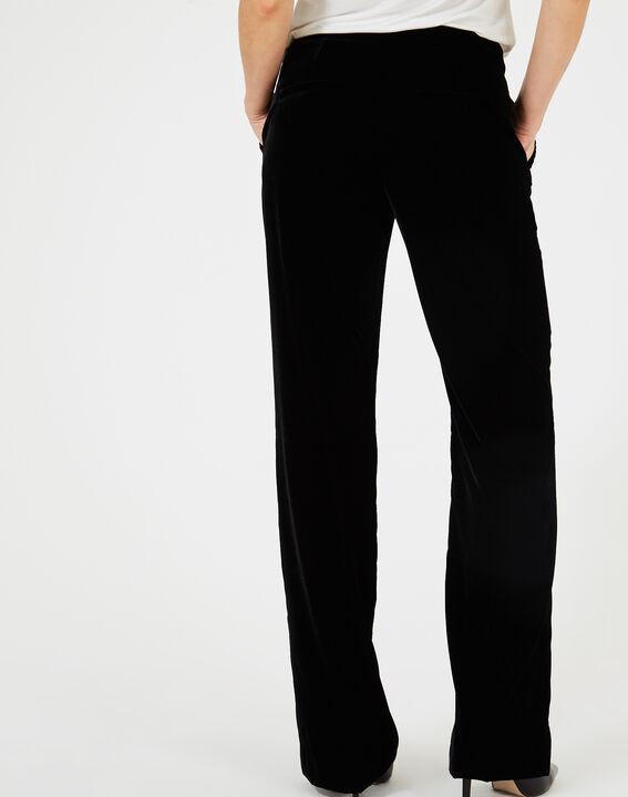 Pantalon noir en velours Kendal (4) - 1-2-3
