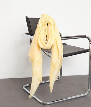 Foulard imprimé jaune Paya