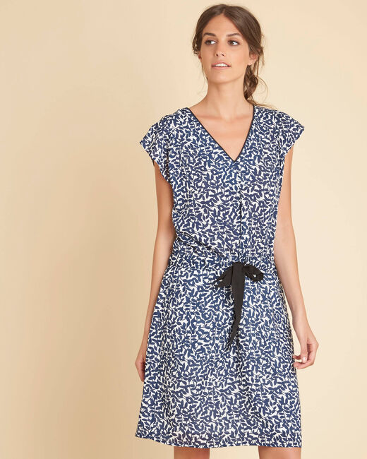 Princesse navy blue printed dress (2) - 1-2-3