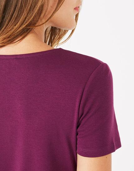 Tee-shirt cassis col strassé Neck (5) - 1-2-3