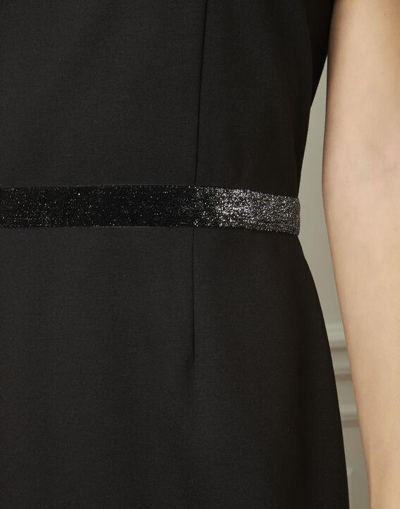 Zwarte jurk met strassteentjes Ness (4) - Maison 123