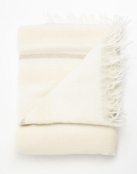 Ecru sjaal met franjes Fiesta (2) - 37653