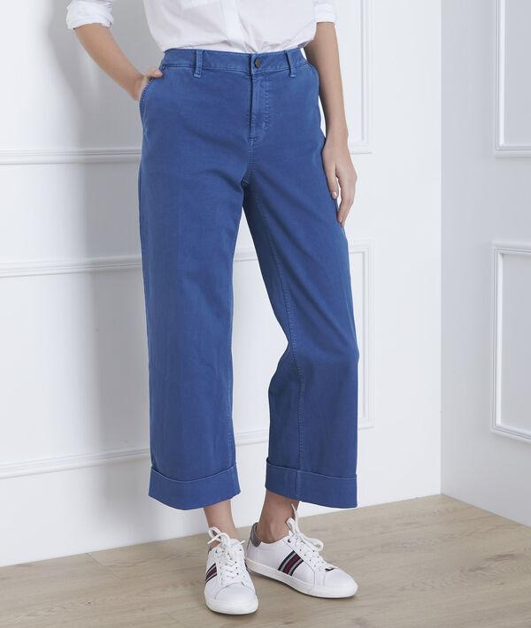 Lichtindigo, korte jeans met wijde pijpen Clara PhotoZ   1-2-3