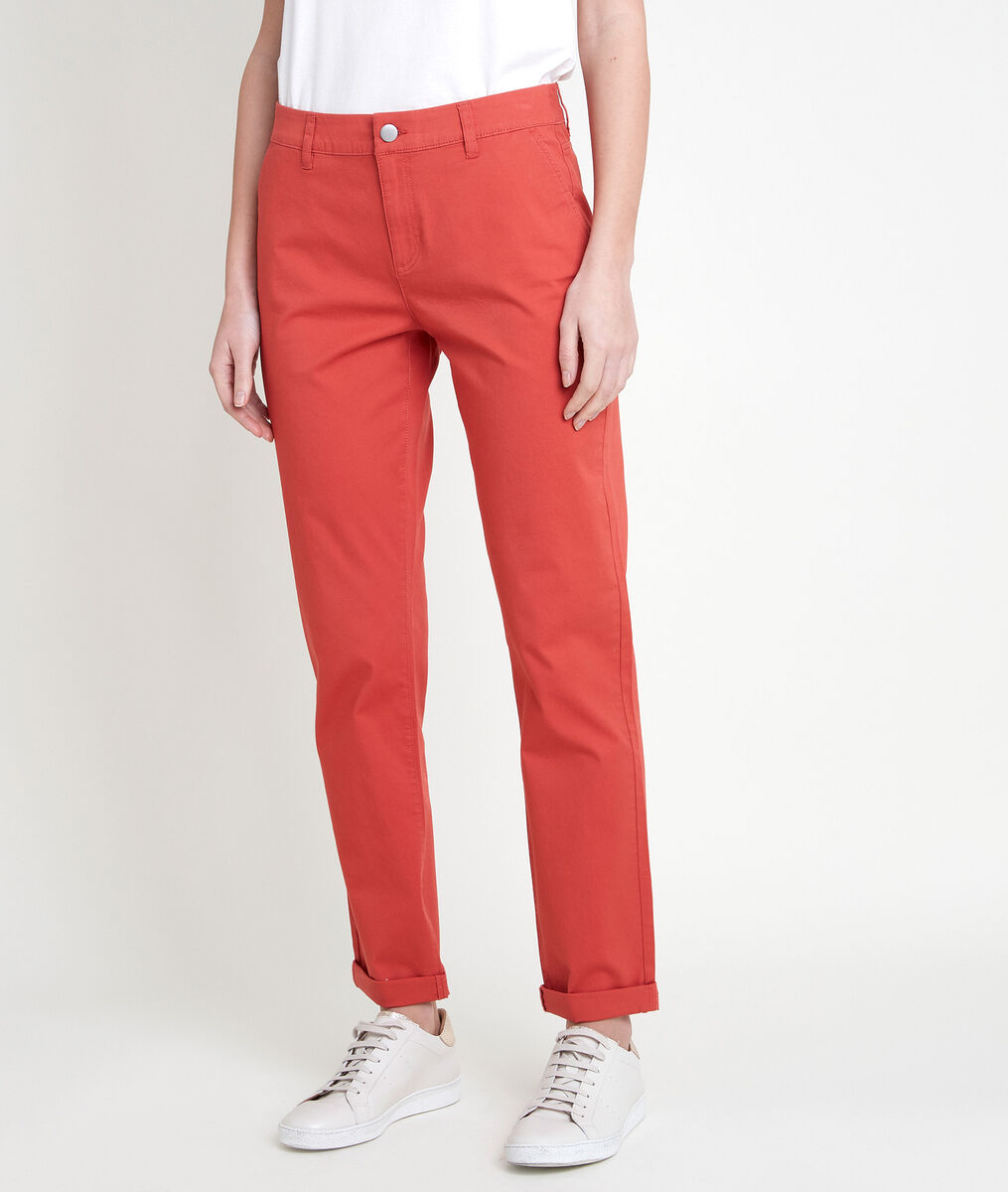 Pantalon en coton biologique chino orange Francis PhotoZ | 1-2-3