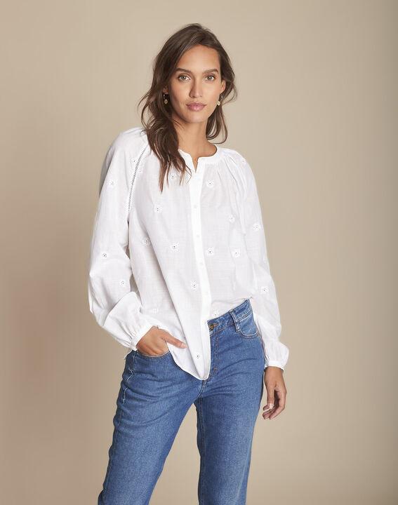 blouse blanche en broderie anglaise Maina PhotoZ | 1-2-3