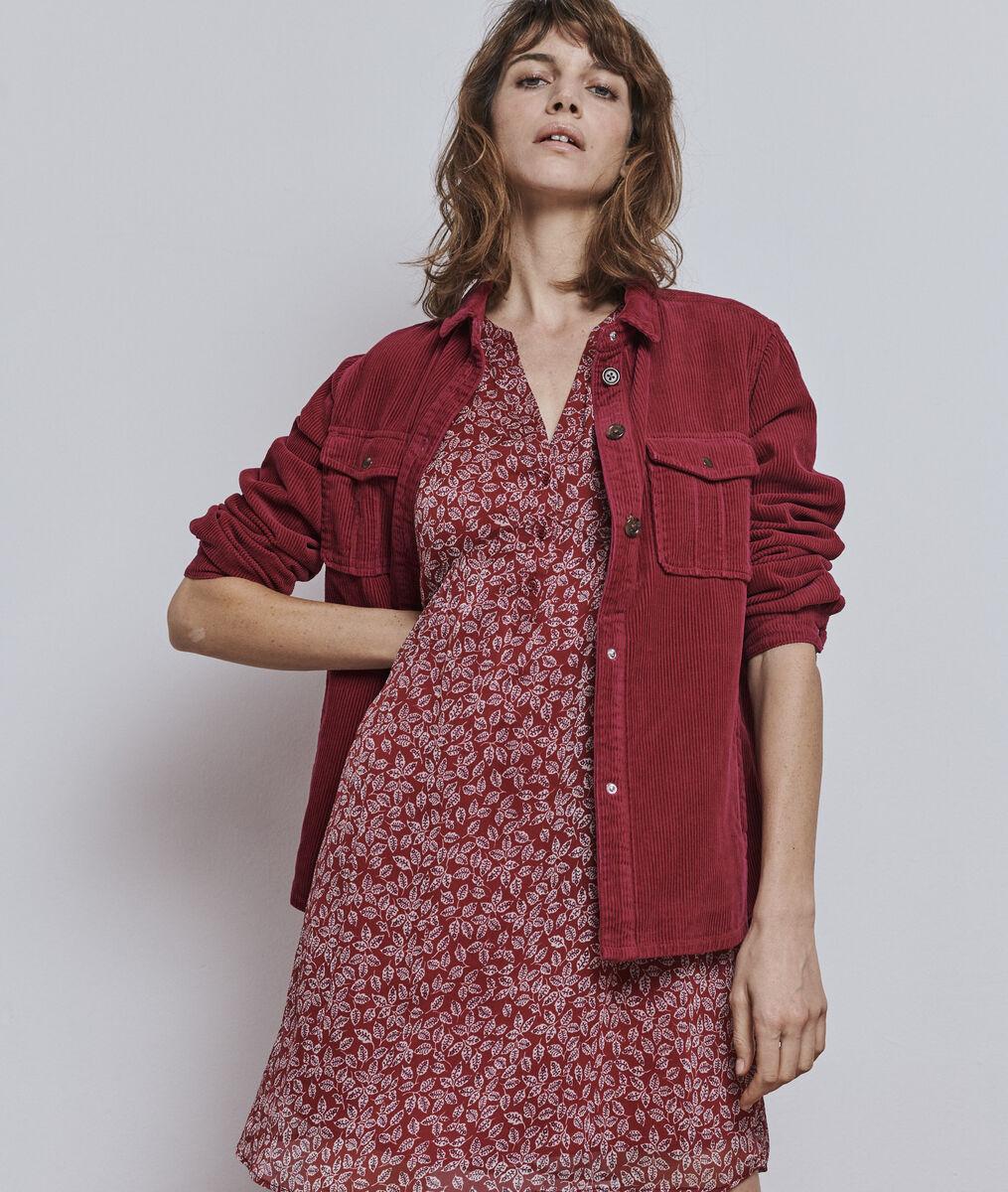Rotes Kleid mit Blumenprint Calypso Damen | Maison 123