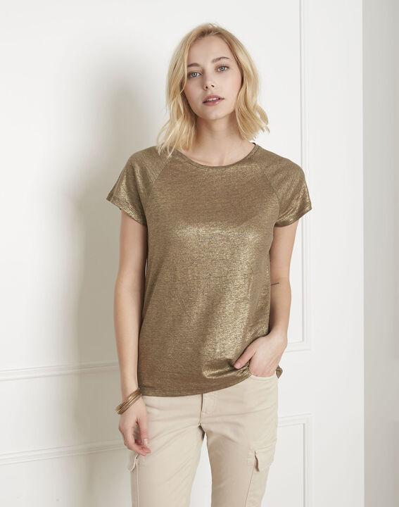 Tee-shirt kaki brillant Pipper (1) - Maison 123