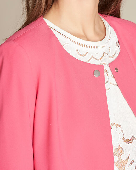 Clementine fuchsia jacket with frilled detailing (1) - 1-2-3